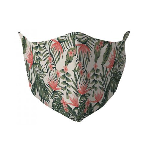 Gezichtsmasker met tropenprint
