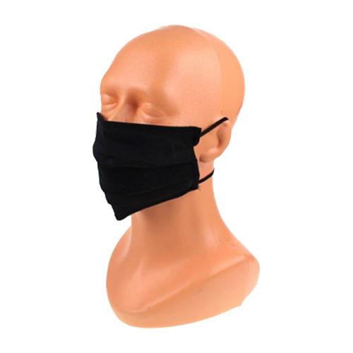 Katoenen mondkapje zwart 2