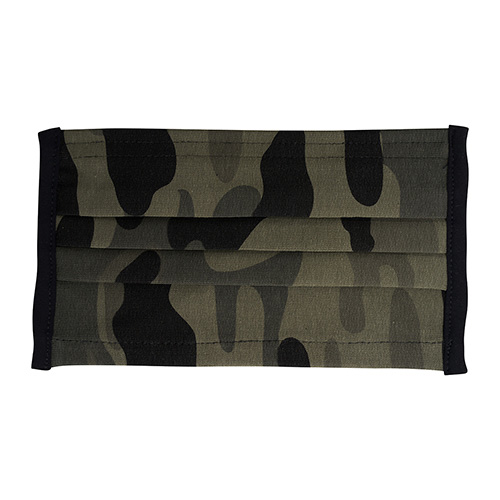 Wasbaar mondkapje camouflage print groen