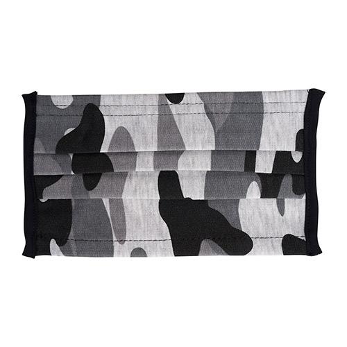 Wasbaar mondkapje camouflage print zwart
