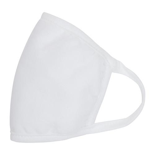 Wasbaar mondkapje wit zijkant