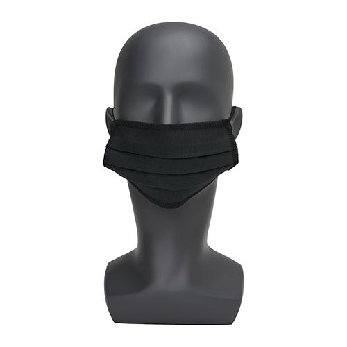 Zwart wasbaar mondkapje