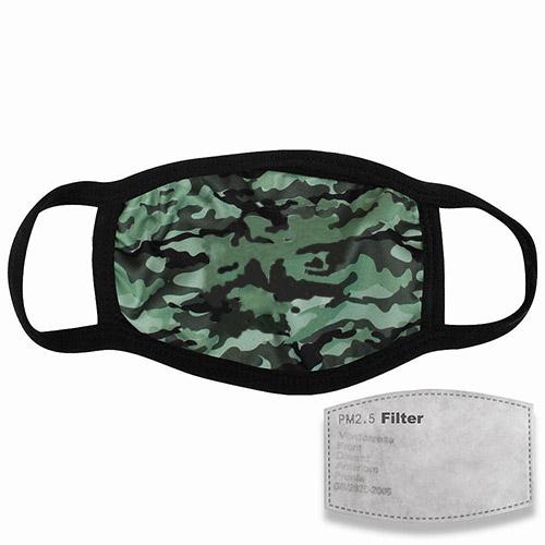 Mondkapje met filter camouflage