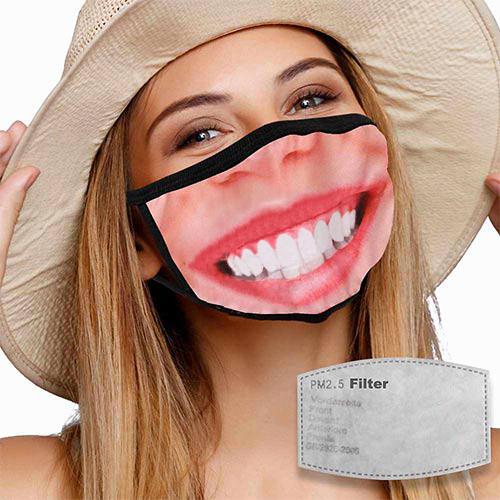 Mondkapje met filter lach