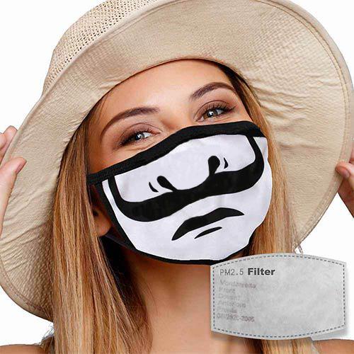 Mondkapje met filter snor