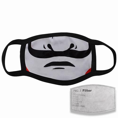 Mondkapje met filter en snor