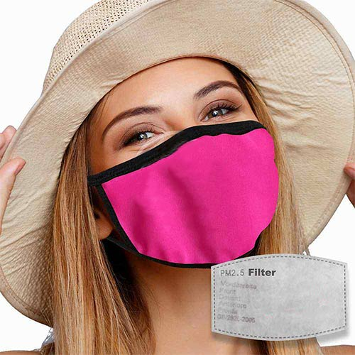 Mondkapje met filter roze sfeer