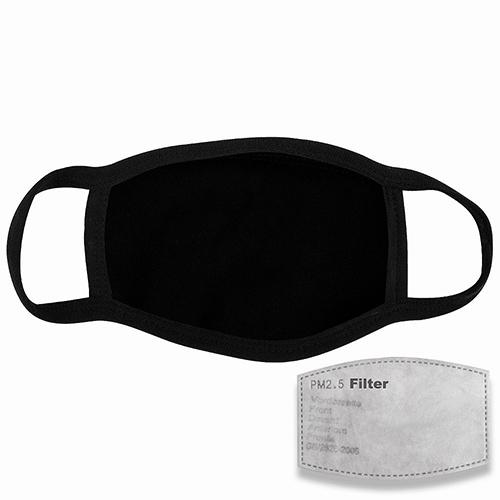 Mondkapje met filter zwart