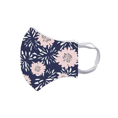 Gezichtsmasker met bloemenprint zij kids