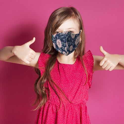 Kinder mondmasker bloemen
