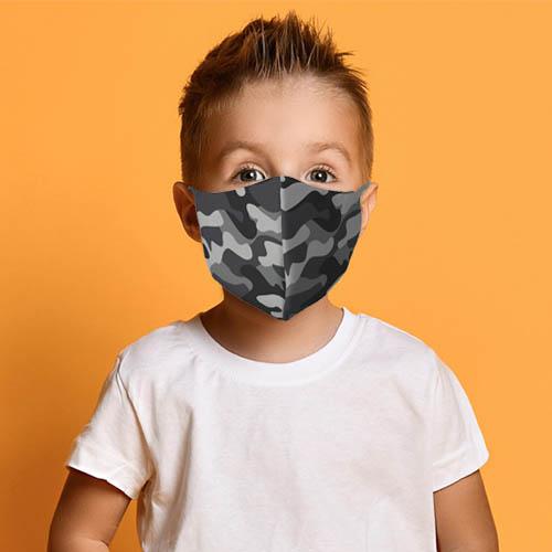 Kinder mondmasker camouflage