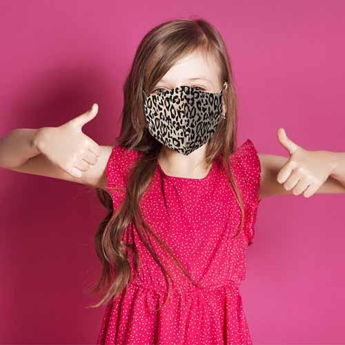 Kinder mondkapje panterprint