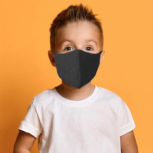 Kinder mondkapje strepen