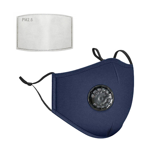 Mondkapje met filter donker blauw.