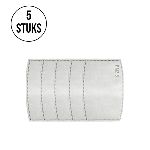 5 stuks filters voor kinder mondkapjes
