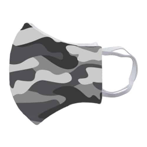 Gezichtsmasker met legerprint zij