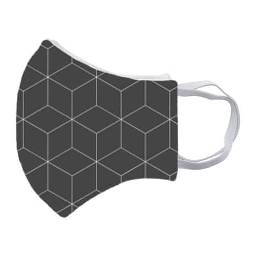 Gezichtsmasker met strepen zij