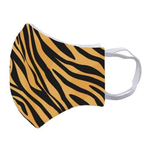 Gezichtsmasker met tijgerprint zij
