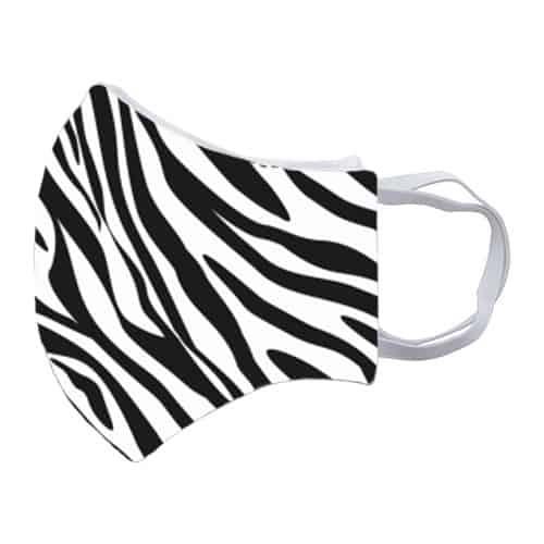 Gezichtsmasker met zebraprint zij