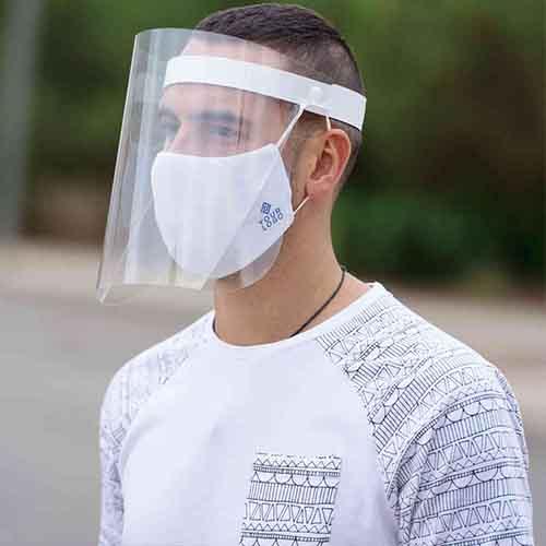 Transparante gezichtsbeschermer bedrukken